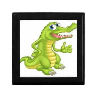 Cartoon Crocodile or Alligator Small Square Gift Box