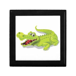 Cartoon Crocodile Small Square Gift Box