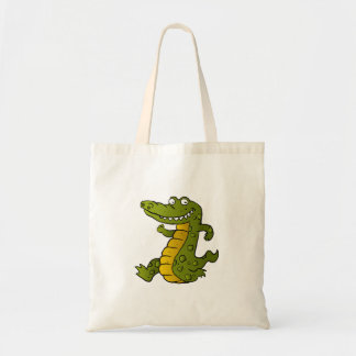 Cartoon crocodile. tote bag