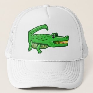 Cartoon Crocodile Trucker Hat