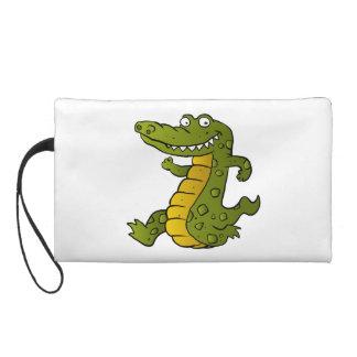 Cartoon crocodile. wristlets