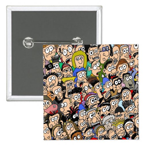 Cartoon Crowd Scenes Cartoon Crowd Scene Badge by