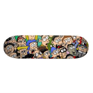 Cartoon Crowd Scene Skateboard by Sam Backhouse