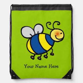 cartoon cute bumble bee - just add name backpack