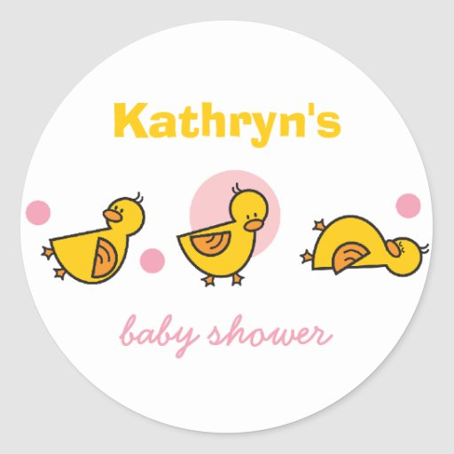 Baby Gift Vector : Cartoon cute duckies baby shower gift tag sticker zazzle