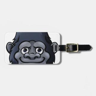 Cartoon Cute Gorilla Face Luggage Tag