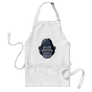 Cartoon Cute Gorilla Face Standard Apron