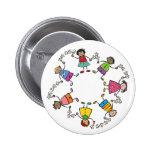 Cartoon Cute Happy Kids Friends Around The World 6 Cm Round Badge