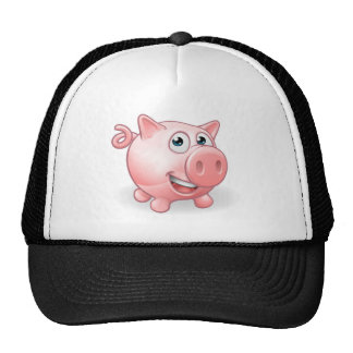 Cartoon Cute Pig Farm Animal Cap