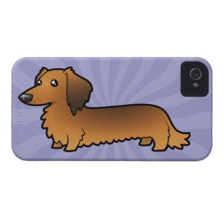 Cartoon Dachshund (longhair) Case-Mate iPhone 4 Case