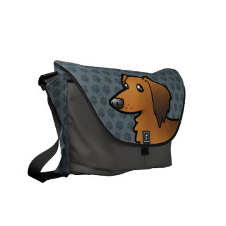 Cartoon Dachshund (longhair) Commuter Bag