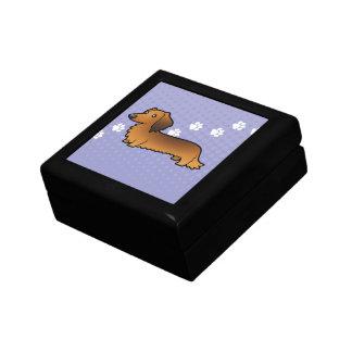 Cartoon Dachshund (longhair) Gift Box