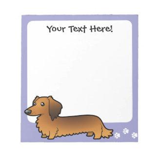 Cartoon Dachshund (longhair) Notepad