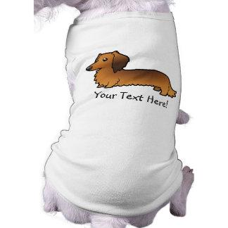 Cartoon Dachshund (longhair) Sleeveless Dog Shirt