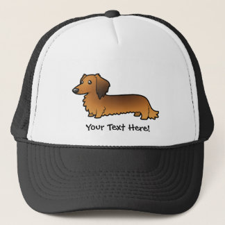 Cartoon Dachshund (longhair) Trucker Hat