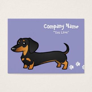 Cartoon Dachshund (smooth coat) Business Card