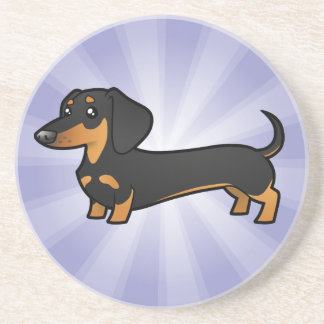 Cartoon Dachshund (smooth coat) Coaster