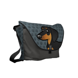 Cartoon Dachshund (smooth coat) Commuter Bags