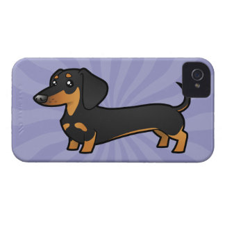 Cartoon Dachshund (smooth coat) iPhone 4 Cases
