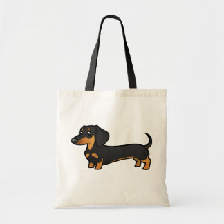 Cartoon Dachshund (smooth coat) Tote Bag