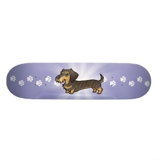 Cartoon Dachshund (wirehair) 21.6 Cm Skateboard Deck