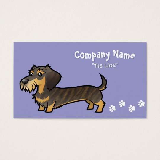Cartoon Dachshund (wirehair) Business Card