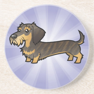 Cartoon Dachshund (wirehair) Coaster