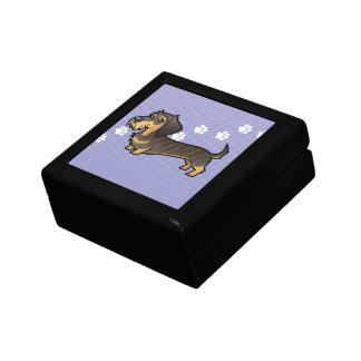 Cartoon Dachshund (wirehair) Gift Box