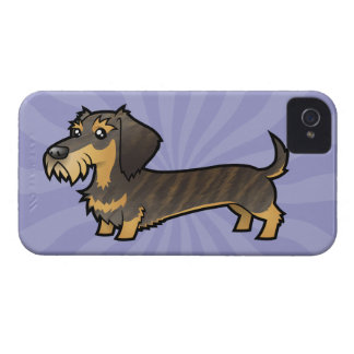 Cartoon Dachshund (wirehair) iPhone 4 Cover