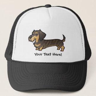 Cartoon Dachshund (wirehair) Trucker Hat