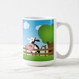 Cartoon Dairy Cow Mug