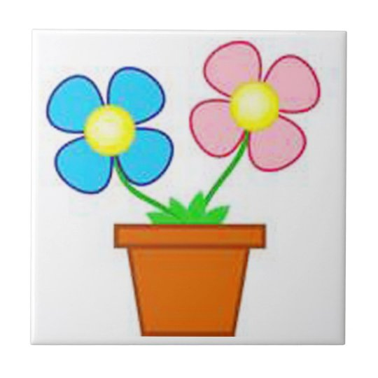 Cartoon Daisy Plant Home Tile