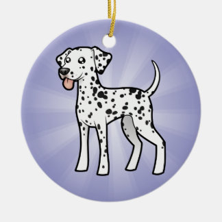Cartoon Dalmatian Christmas Ornament