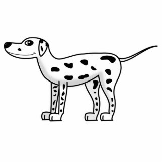 Cartoon Dalmatian Dog Cut Outs