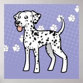 Cartoon Dalmatian Poster