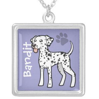 Cartoon Dalmatian Silver Plated Necklace