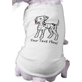 Cartoon Dalmatian Sleeveless Dog Shirt