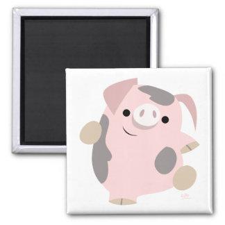 Cartoon Dancing Pig magnet