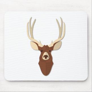 Cartoon Deer Stag Head Mousepad