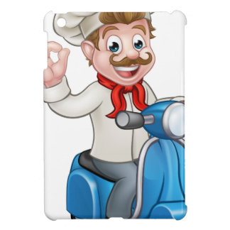 Cartoon Delivery Moped Scooter Chef iPad Mini Covers