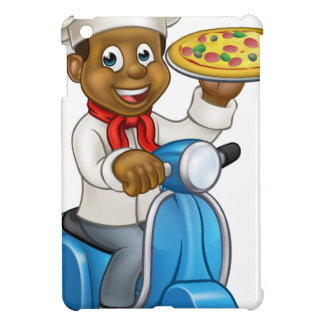 Cartoon Delivery Scooter Pizza Chef iPad Mini Cover