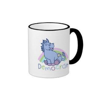 Cartoon Dem Donkey Ringer Mug