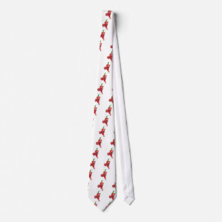 Cartoon Devil Red Chilli Pepper Pointing Tie
