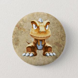 Cartoon Dinosaur 6 Cm Round Badge