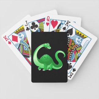 Cartoon Dinosaur Background Bicycle Playing Cards