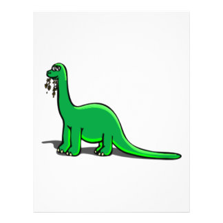 Cartoon Dinosaur Eating 21.5 Cm X 28 Cm Flyer