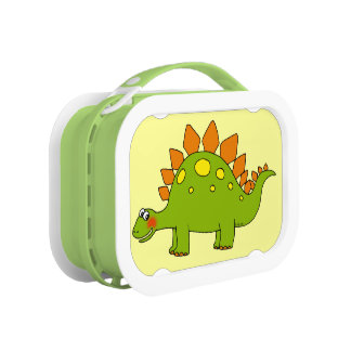 cartoon dinosaur stegosaurus lunch box