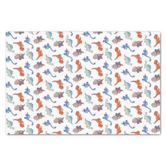 Cartoon Dinosaurs Tissue Paper