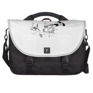 Cartoon Diver Laptop Bag