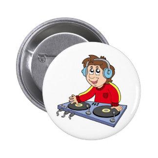 Cartoon DJ boy 6 Cm Round Badge